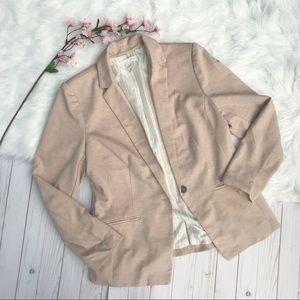 H&M light pink boyfriend blazer